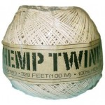 spool with 328 ft of 8lb test waxed hemp twine