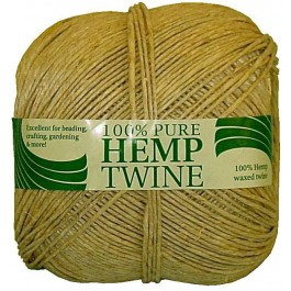 a spool of 265 ft 40lb test waxed hemp twine