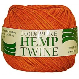 430 ft of 20lb test orange waxed hemp twine