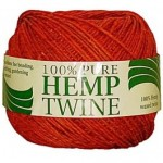 spool with 430 ft of 20lb test red waxed hemp twine
