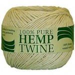 100g spool of 20lb strength white hemp twine