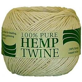 100g spool of 20lb strength white hemp twine