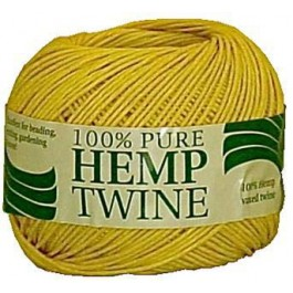 spool with 430 ft of 20lb test yellow waxed hemp twine