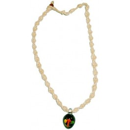 Hemp Necklace with Rasta Mushroom Garden Pendant