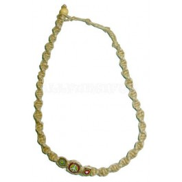 Spiral Hemp Necklace With Peace Love and Happiness Beads